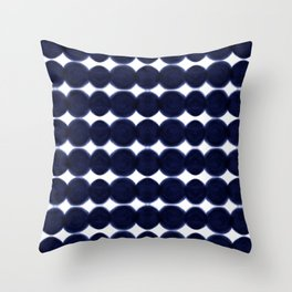 Blue Dots Throw Pillow