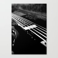bass Canvas Prints featuring Bass  by Lia Bedell