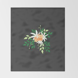Lily Bouquet Throw Blanket