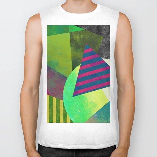 Textured Shapes - Abstract, geometric artwork Biker Tank
