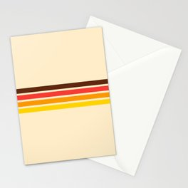 African Retro Stripes Stationery Cards