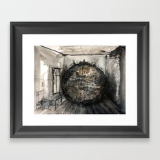 world in the room Framed Art Print