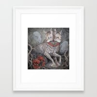 caitlin hackett Framed Art Prints featuring Forget Me Not by Caitlin Hackett