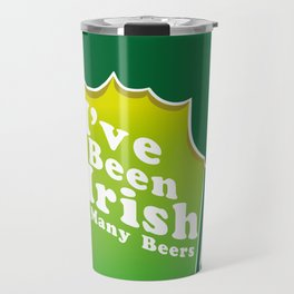 I've Been Irish For Many Beers St. Patrick's Day Travel Mug