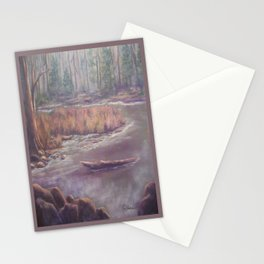 Mist on the Manistee AC151003b-12 Stationery Cards