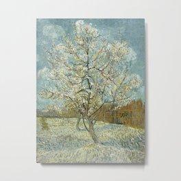 Vincent van Gogh - The Pink Peach Tree Metal Print