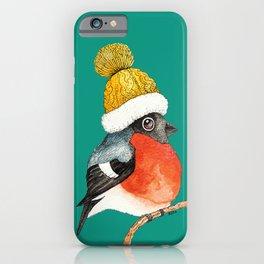 Christmas Bird Bullfinch iPhone Case