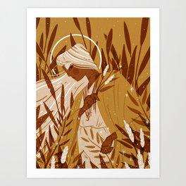 Ochre Fields Art Print
