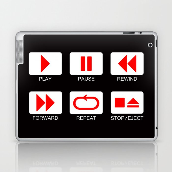 Music Player Button Laptop & iPad Skin by edisuniarto