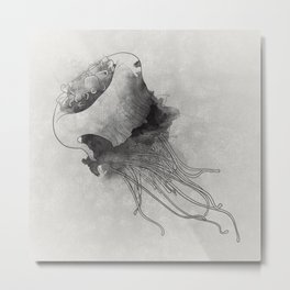 jellyfish meduse Metal Print