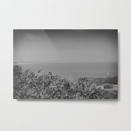 Lone Sailboat Metal Print
