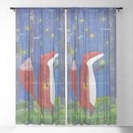 Star Forest - Fox Sheer Curtain
