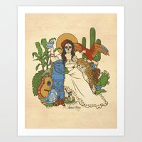 mexico Art Prints featuring Mexico by Anne Kelley