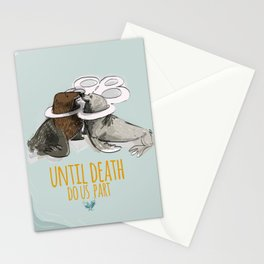 Until death do us part Stationery Cards