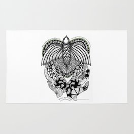 This goodbye is not forever Sympathy  - Zentangle Illustration Rug