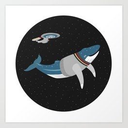 Whalesley Crusher Art Print