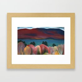 Lake George in the Autumn by Georgia O'Keeffe Framed Art Print