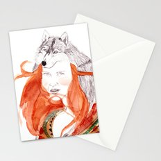 Wolf Girl Stationery Cards