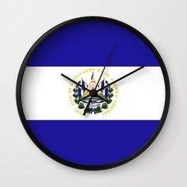 El Salvador flag emblem Wall Clock