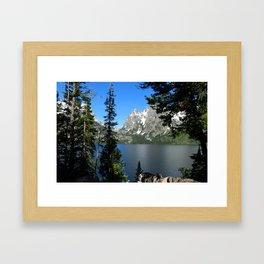 Jenny Lake Serenity Framed Art Print