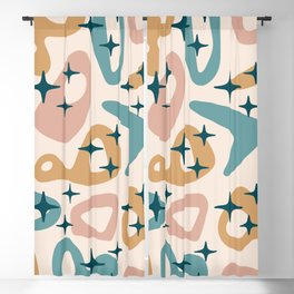 Retro Mid Century Modern Abstract Composition 942 Blackout Curtain