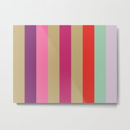 EPHEMERAL : (E)cru (P)urple (H)ot Pink (E)cru (M)agenta (E)cru (R)ed (A)quamarine (L)avender.  Metal Print