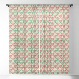 Grapefruit trilogy Sheer Curtain