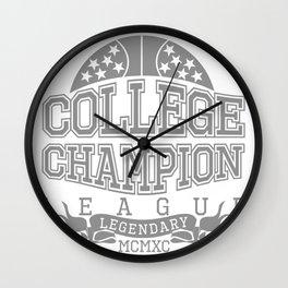 Collge Champion Wall Clock