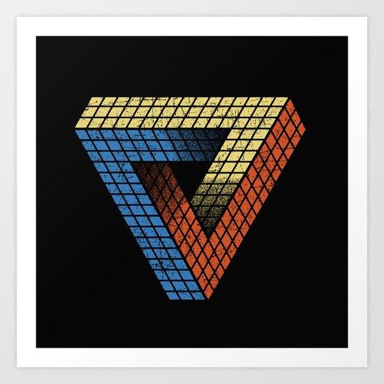 Penrose Puzzle Art Print