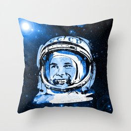 Be first like G A G A R I N Throw Pillow