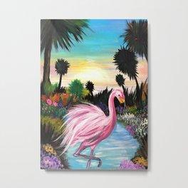 Flamingos Paradise Metal Print