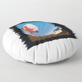 Fukushima Butterfly Floor Pillow