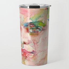 FEDERICO GARCIA LORCA - watercolor portrait Travel Mug