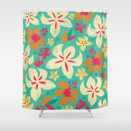 Tropicana floral Shower Curtain