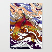 phoenix Canvas Prints featuring Phoenix by Peter Fulop