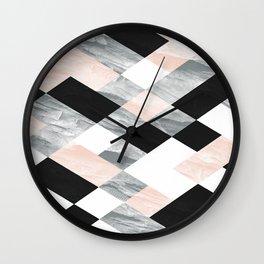 Pastel Scheme Geometry Wall Clock