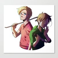 pewdiepie Canvas Prints featuring Pewdiecry by Kiwa