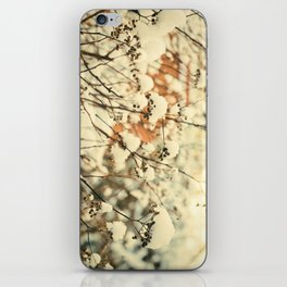 Vintage bush in the Snow iPhone Skin