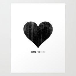 Beats for Love. Art Print
