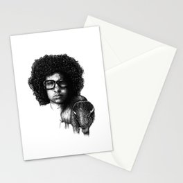 Omar Rodriguez Lopez and his bison Stationery Cards