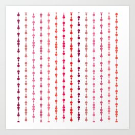 Multi-faceted decorative lines 12 Art Print
