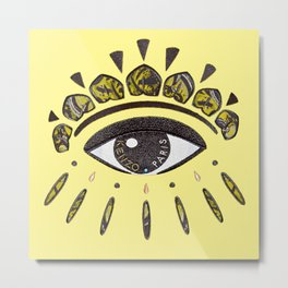 Kenzo eye yellow Metal Print