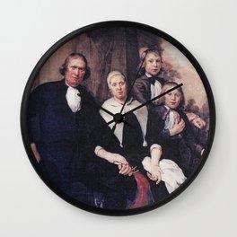 Jan de Bray - Family Portrait of De Lange Wall Clock