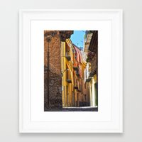 street Framed Art Prints featuring street by  Agostino Lo Coco