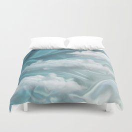 """""""Blue pastel sweet heaven and clouds"""" Duvet Cover"""