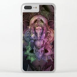 Ganesha Color Clear iPhone Case