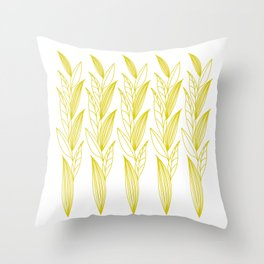 Eternity in Gold Leaf II Throw Pillow
