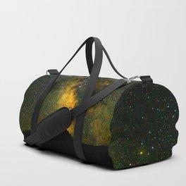 Beautiful Yellow Milky way Galaxy At Night Stars Sky Landscape Photography Duffle Bag