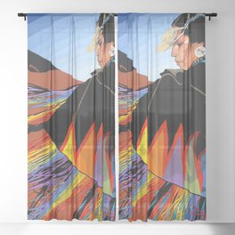 Shawl Dancer Sheer Curtain