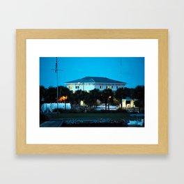 Port St. Joe Marina view 1 Framed Art Print